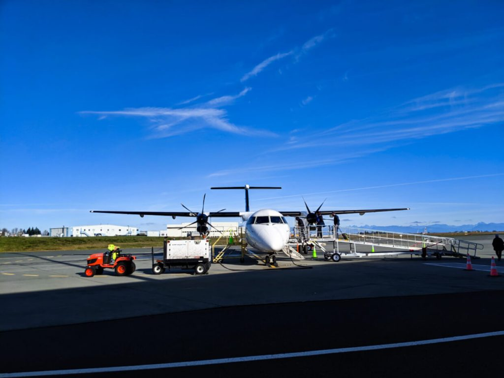 Small propeller plane at Comox Airport